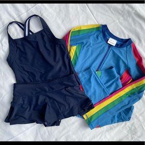 Hanna Andersson swim bundle girls size 10
